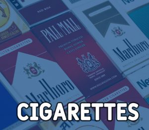 cigarettes marlbro players pall mall blue tabacco