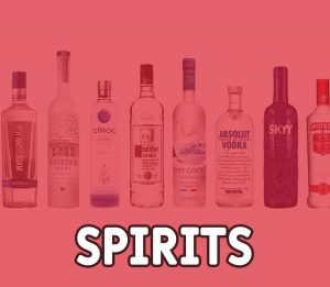 spirits vodka whisky gin absolut smirnoff